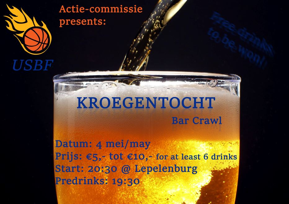 PUB CRAWL the 4th of May